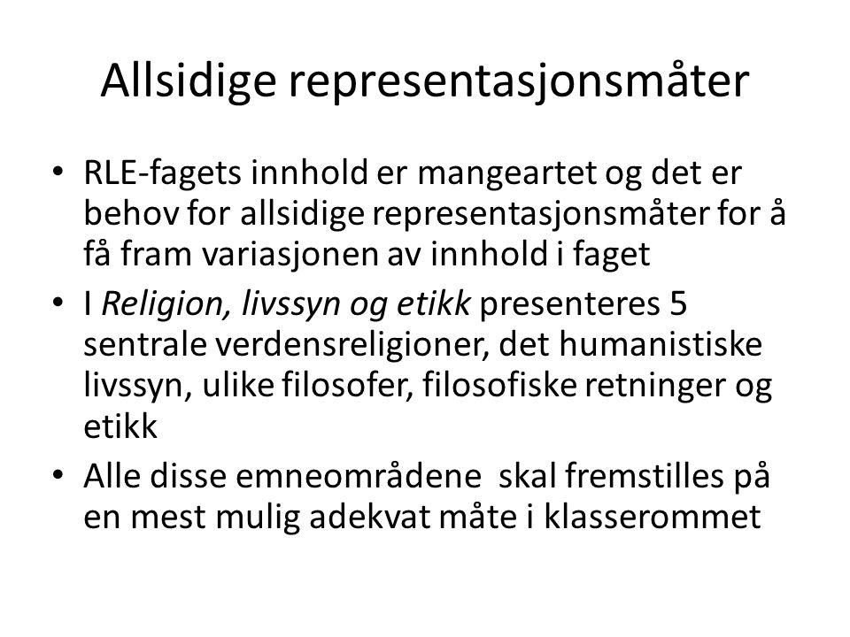 Allsidige representasjonsmåter