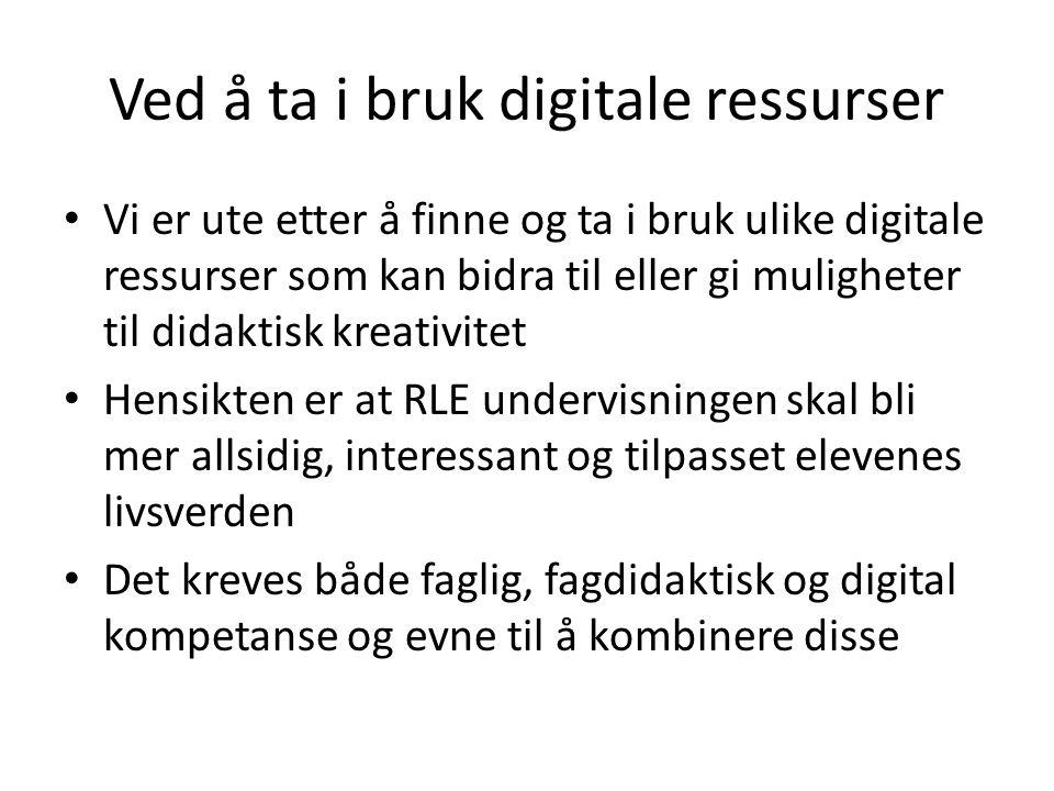 Ved å ta i bruk digitale ressurser