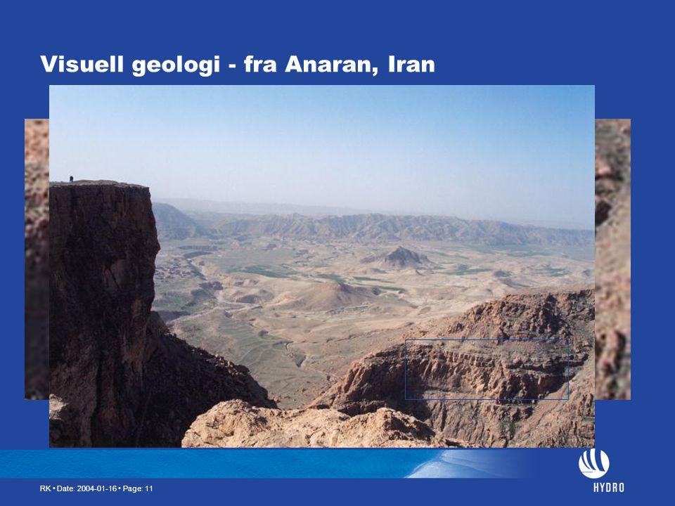 Visuell geologi - fra Anaran, Iran
