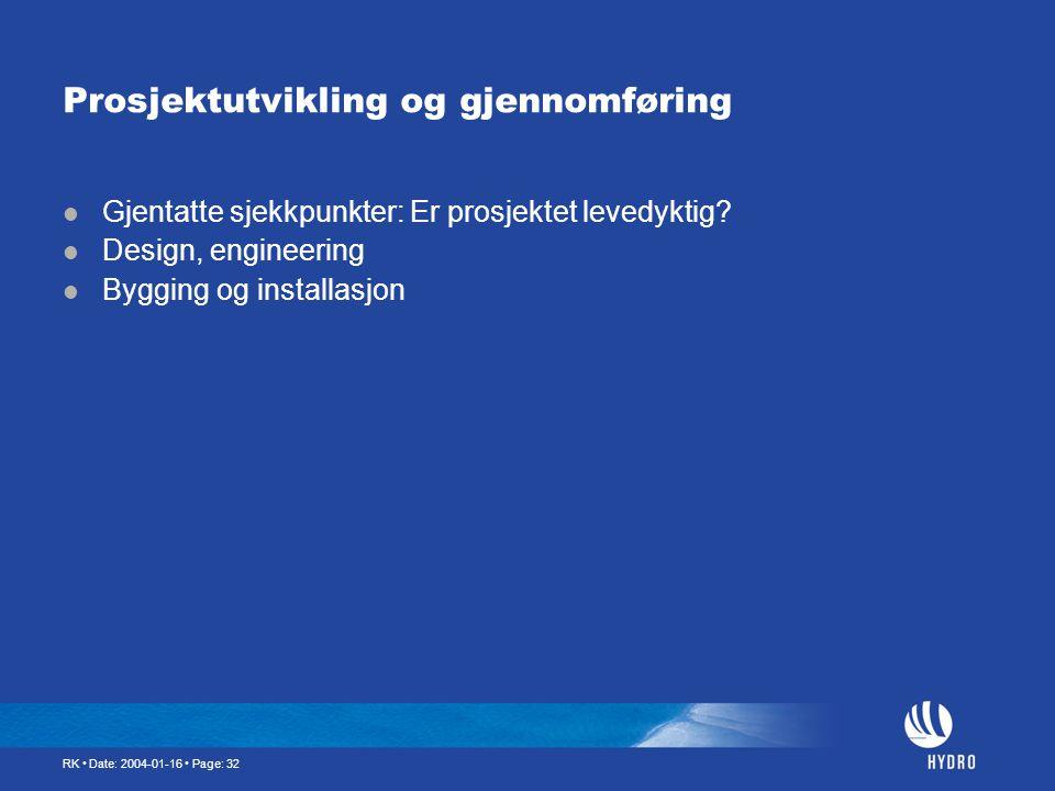Prosjektutvikling og gjennomføring