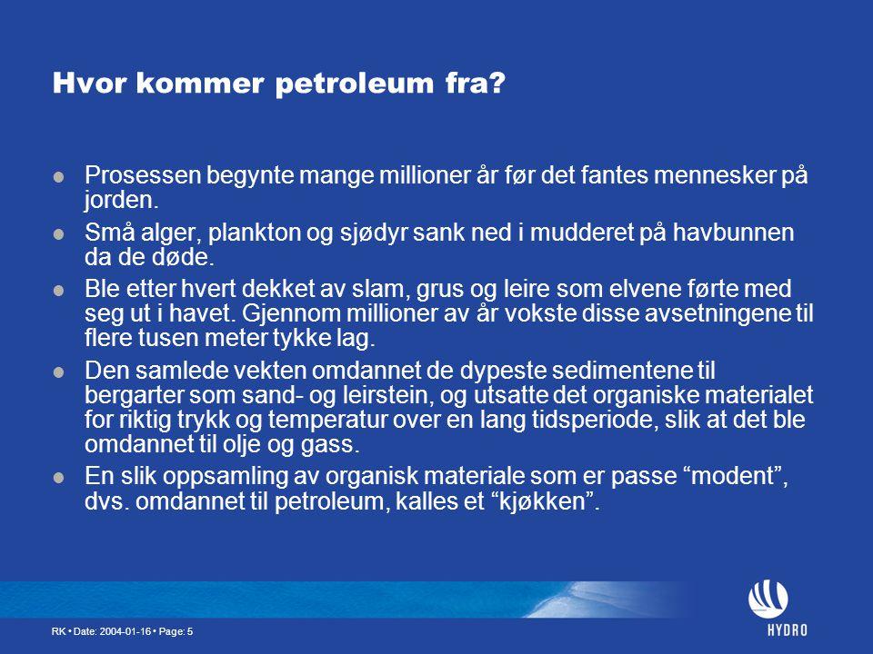 Hvor kommer petroleum fra