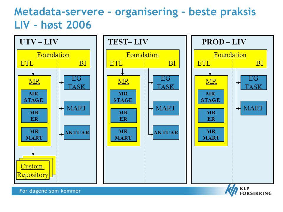 Metadata-servere – organisering – beste praksis LIV - høst 2006