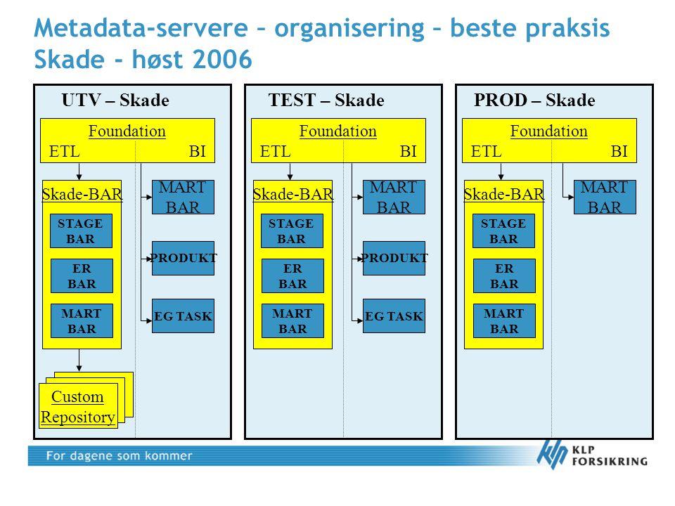 Metadata-servere – organisering – beste praksis Skade - høst 2006
