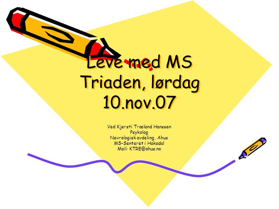 Leve med MS Triaden, lørdag 10.nov.07