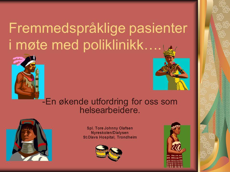 Fremmedspråklige pasienter i møte med poliklinikk….