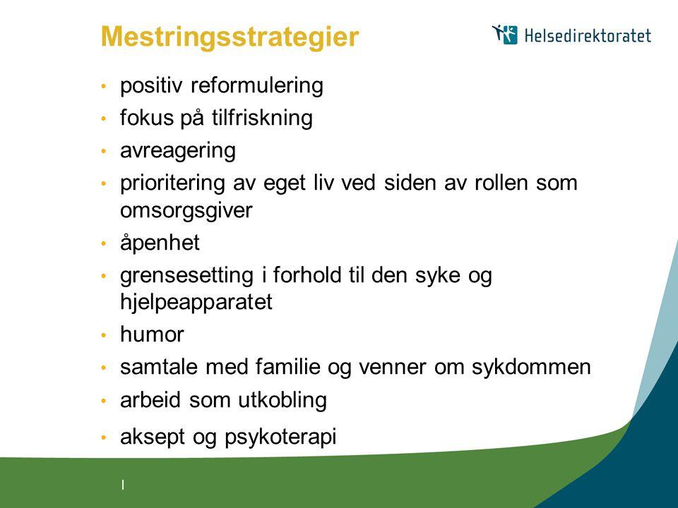Mestringsstrategier positiv reformulering fokus på tilfriskning