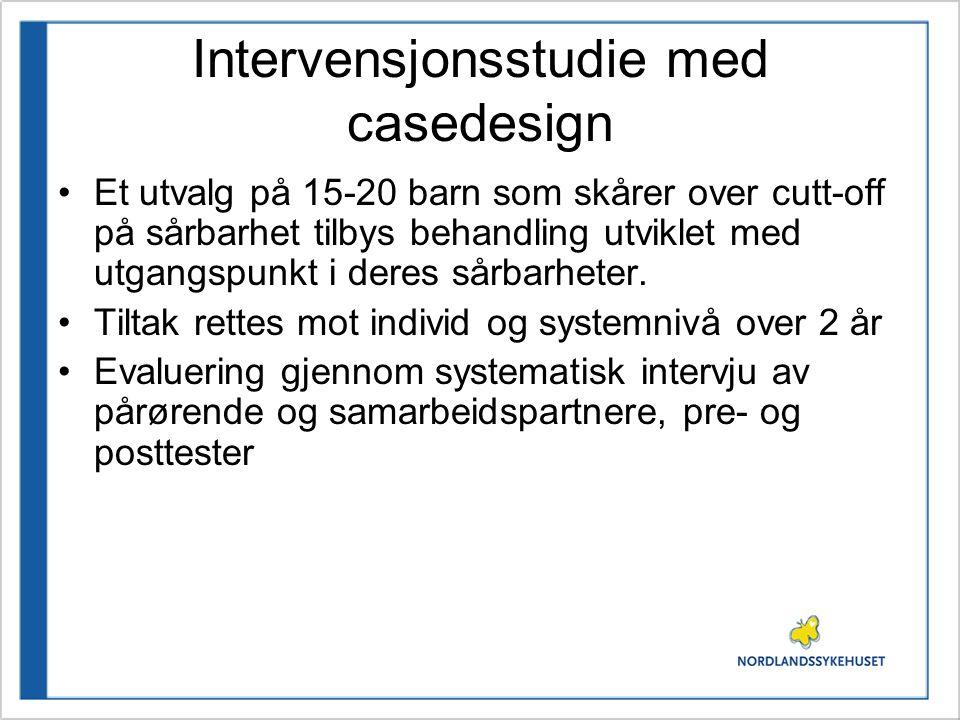 Intervensjonsstudie med casedesign