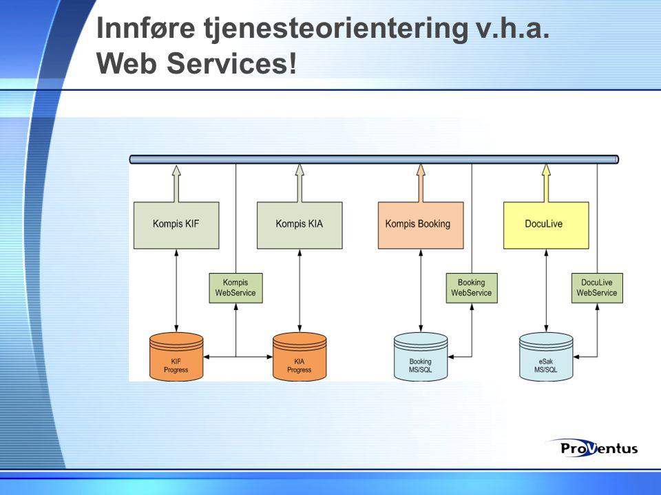 Innføre tjenesteorientering v.h.a. Web Services!