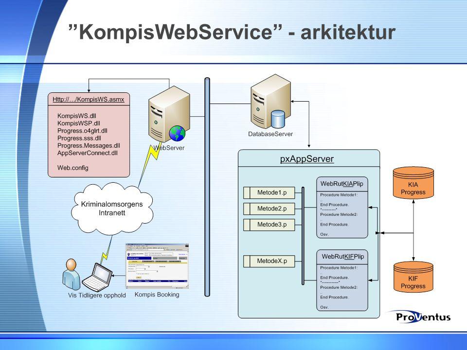 KompisWebService - arkitektur