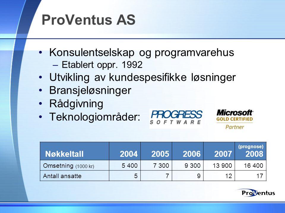 ProVentus AS Konsulentselskap og programvarehus