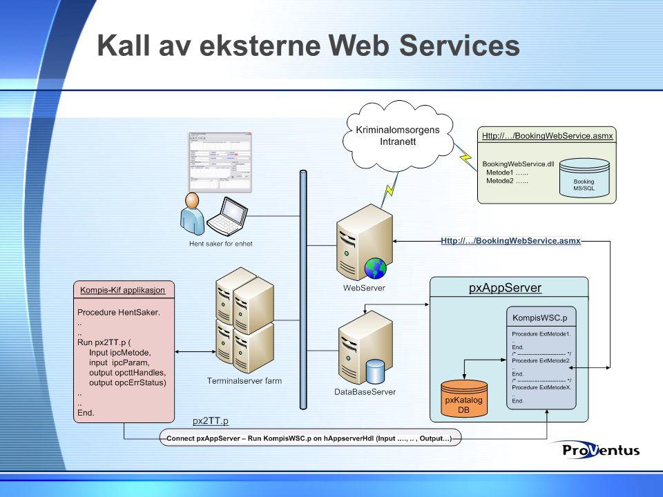 Kall av eksterne Web Services
