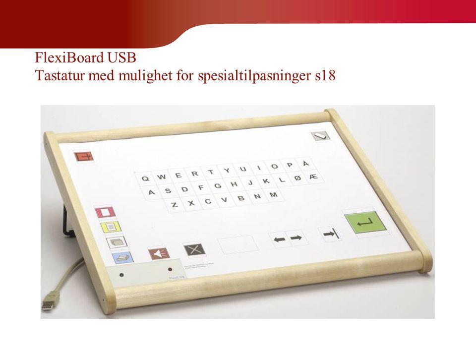 FlexiBoard USB Tastatur med mulighet for spesialtilpasninger s18