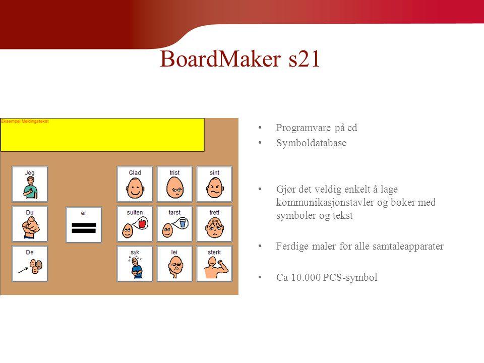 BoardMaker s21 Programvare på cd Symboldatabase