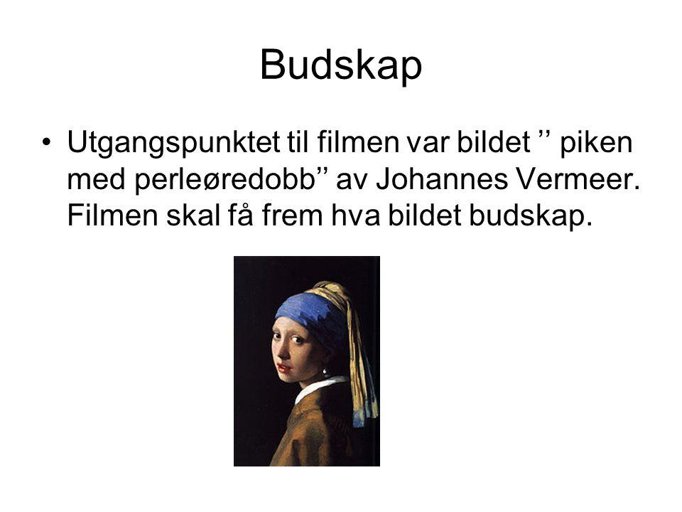 Budskap Utgangspunktet til filmen var bildet '' piken med perleøredobb'' av Johannes Vermeer.