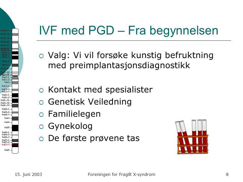 IVF med PGD – Fra begynnelsen