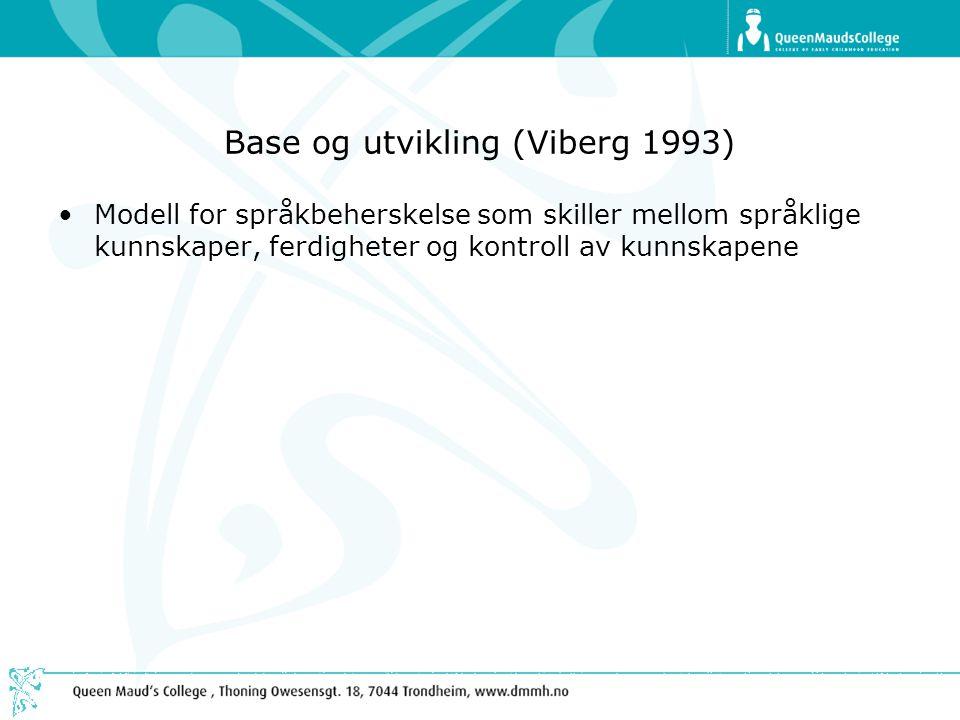 Base og utvikling (Viberg 1993)