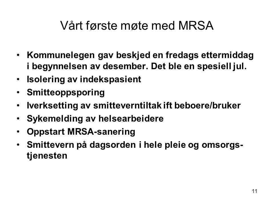 Vårt første møte med MRSA