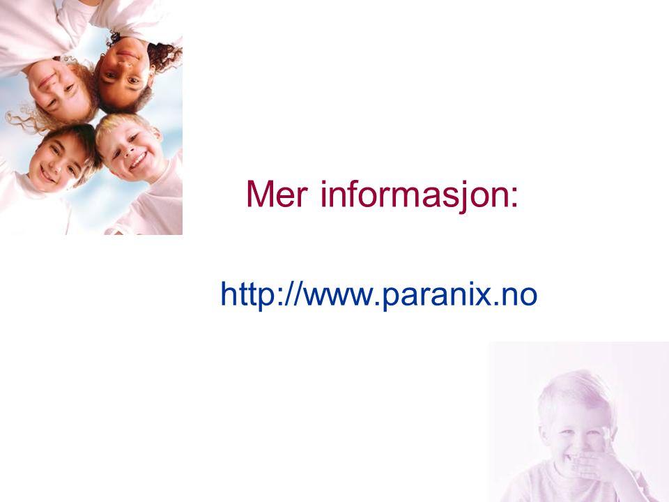 Mer informasjon: http://www.paranix.no