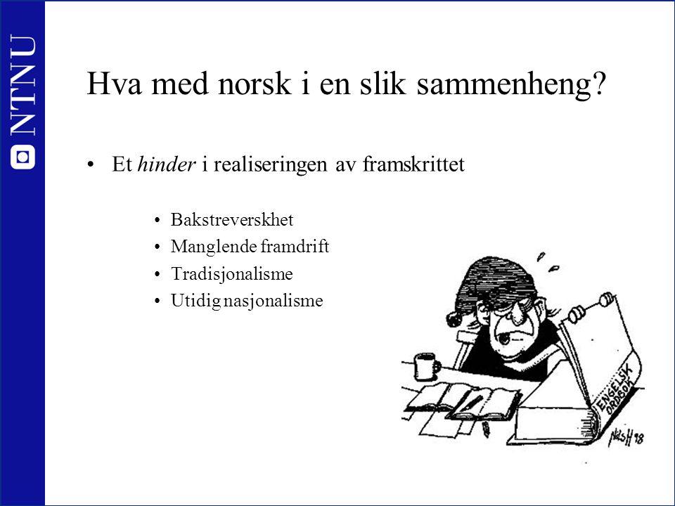 Hva med norsk i en slik sammenheng