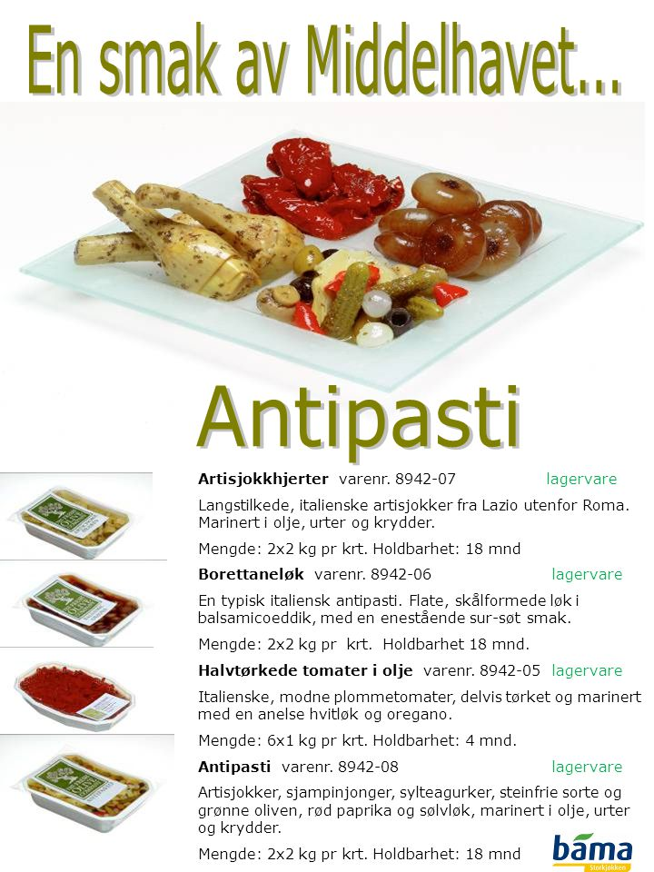 En smak av Middelhavet... Antipasti