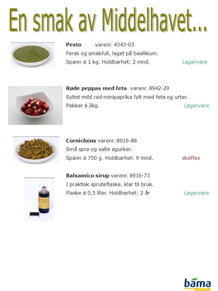 En smak av Middelhavet... Pesto varenr. 4343-03