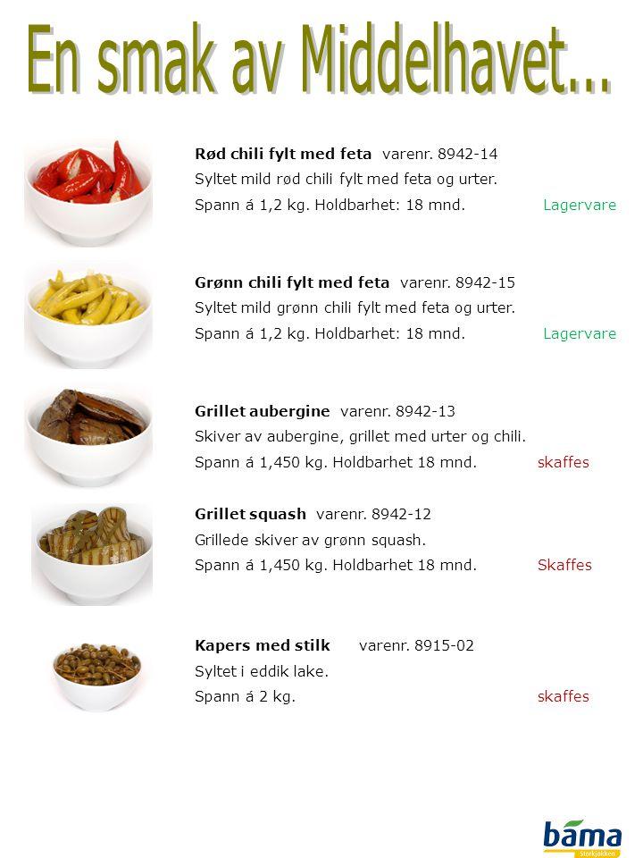 En smak av Middelhavet... Rød chili fylt med feta varenr. 8942-14