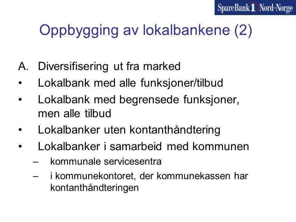 Oppbygging av lokalbankene (2)