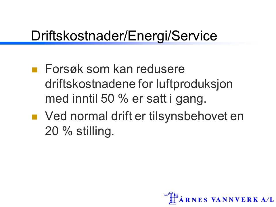 Driftskostnader/Energi/Service