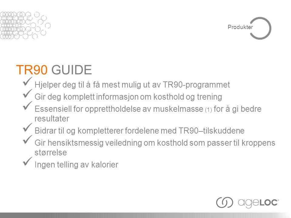 TR90 GUIDE Hjelper deg til å få mest mulig ut av TR90-programmet