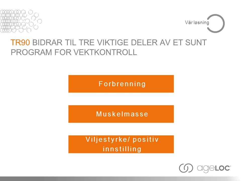 TR90 BIDRAR TIL TRE VIKTIGE DELER AV ET SUNT PROGRAM FOR VEKTKONTROLL