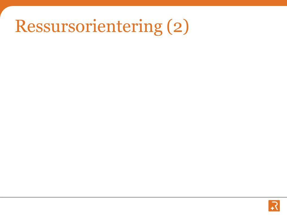 Ressursorientering (2)