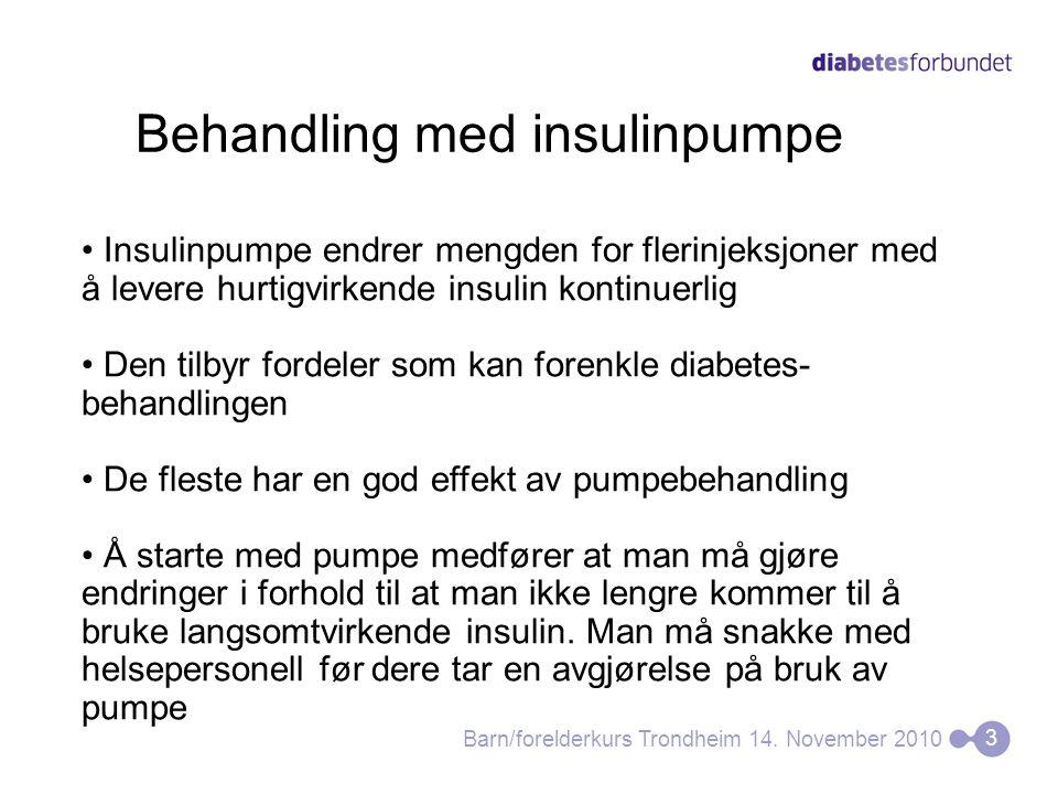 Behandling med insulinpumpe