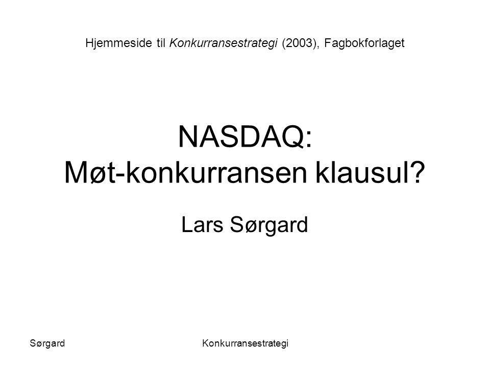 NASDAQ: Møt-konkurransen klausul