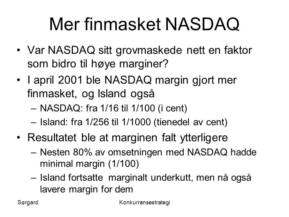 Mer finmasket NASDAQ Var NASDAQ sitt grovmaskede nett en faktor som bidro til høye marginer