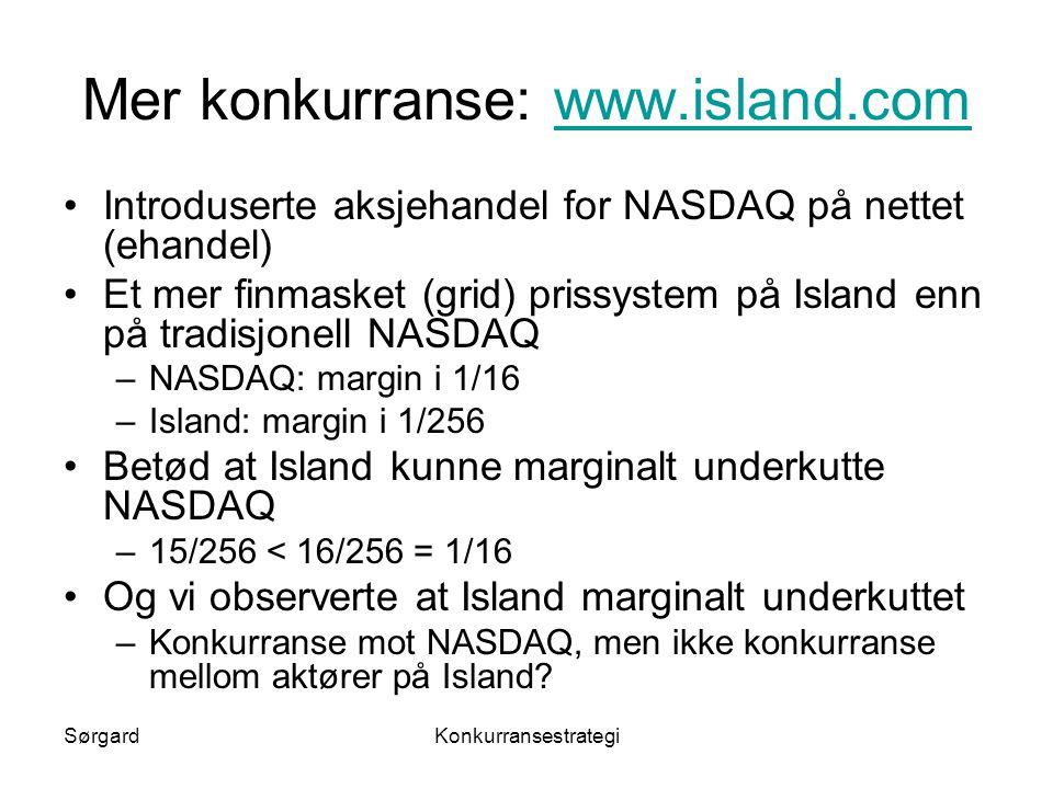 Mer konkurranse: www.island.com