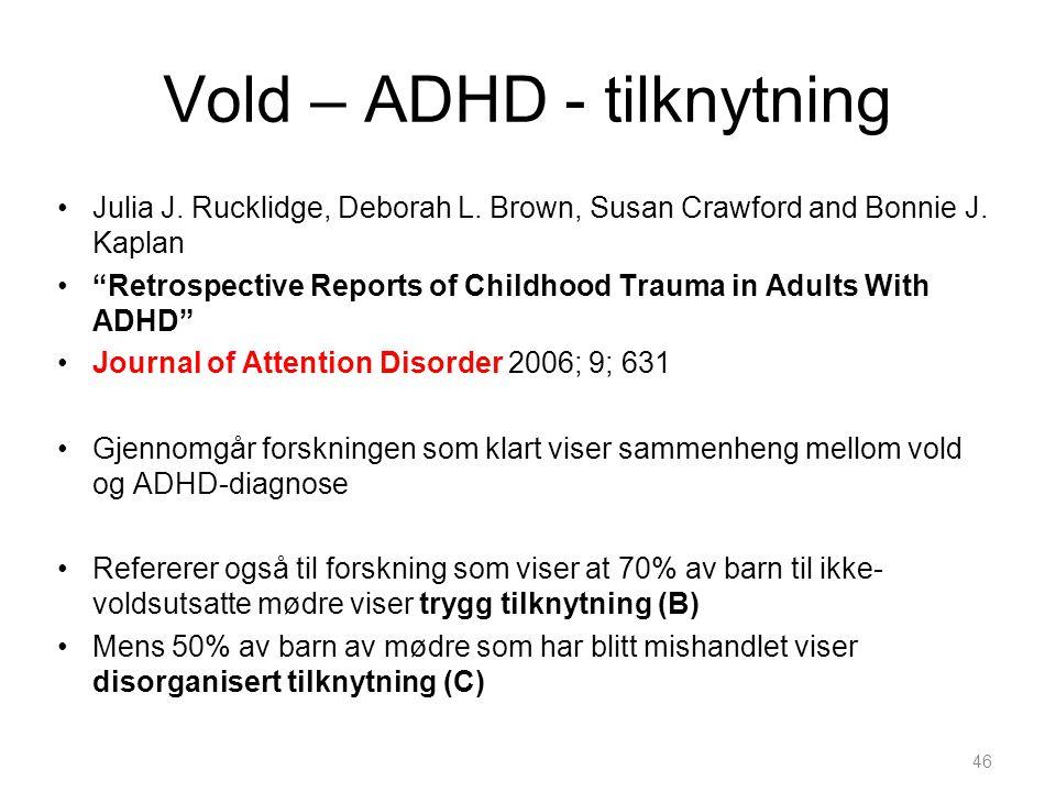 Vold – ADHD - tilknytning