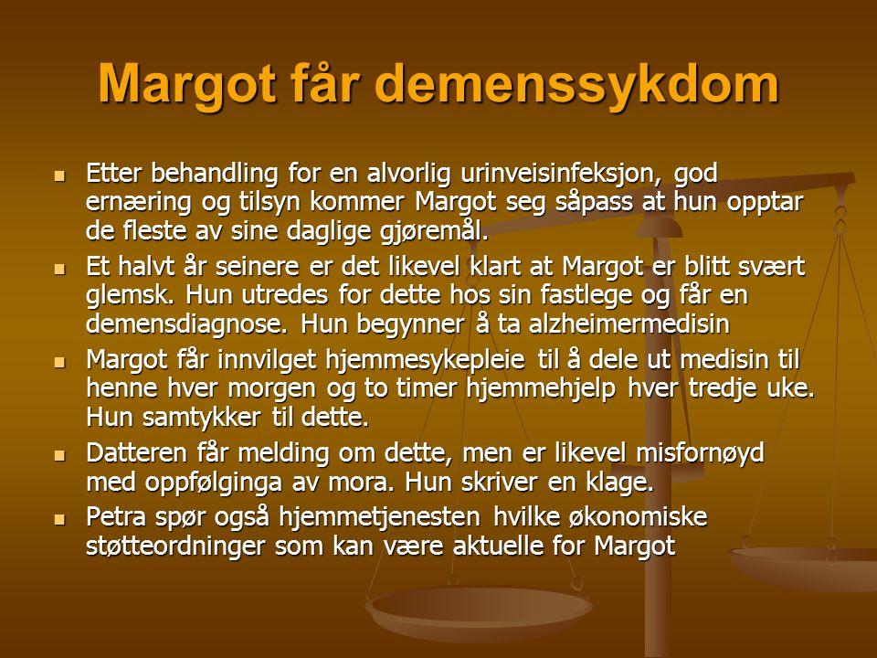 Margot får demenssykdom