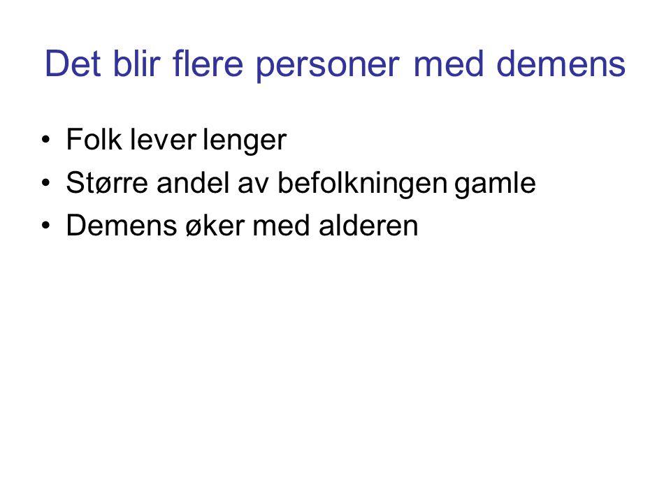 Det blir flere personer med demens