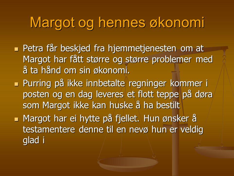 Margot og hennes økonomi