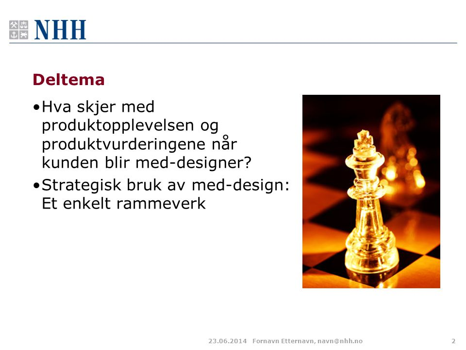 Strategisk bruk av med-design: Et enkelt rammeverk