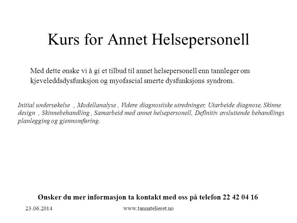 Kurs for Annet Helsepersonell