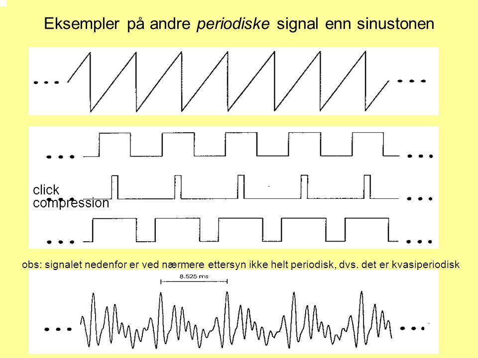 Eksempler på andre periodiske signal enn sinustonen