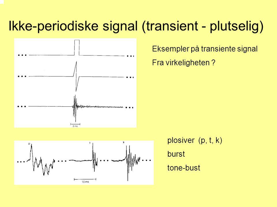 Ikke-periodiske signal (transient - plutselig)