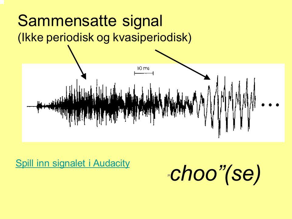 Sammensatte signal (Ikke periodisk og kvasiperiodisk)