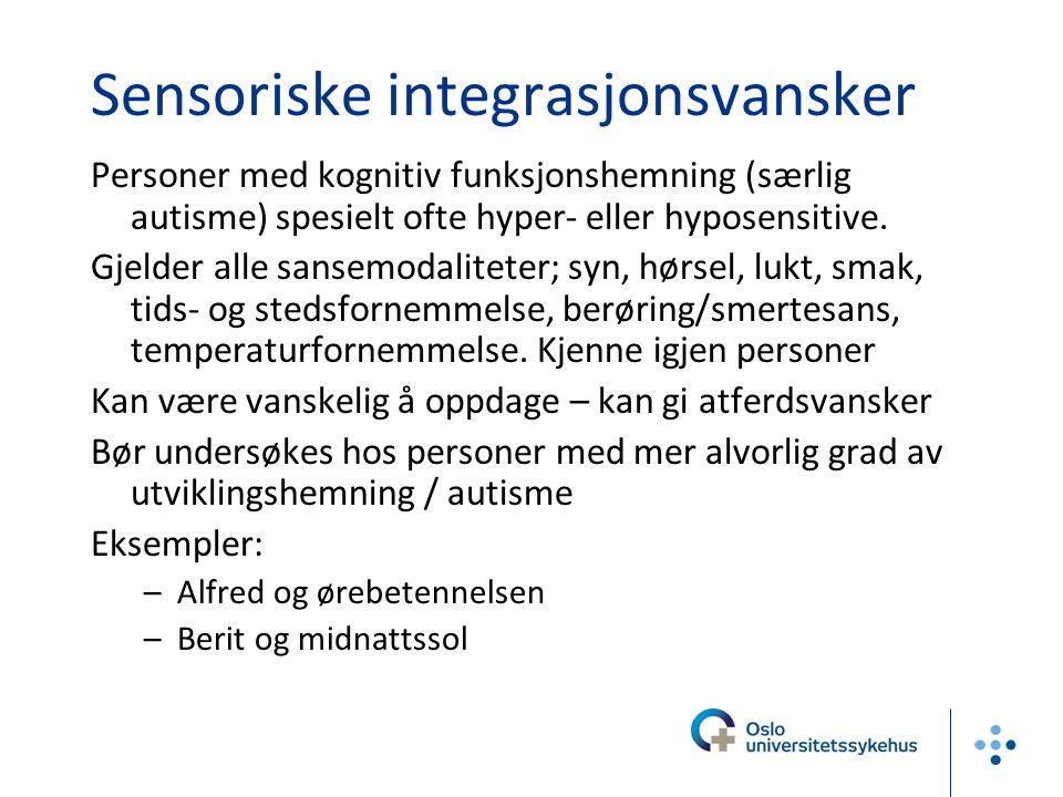 Sensoriske integrasjonsvansker