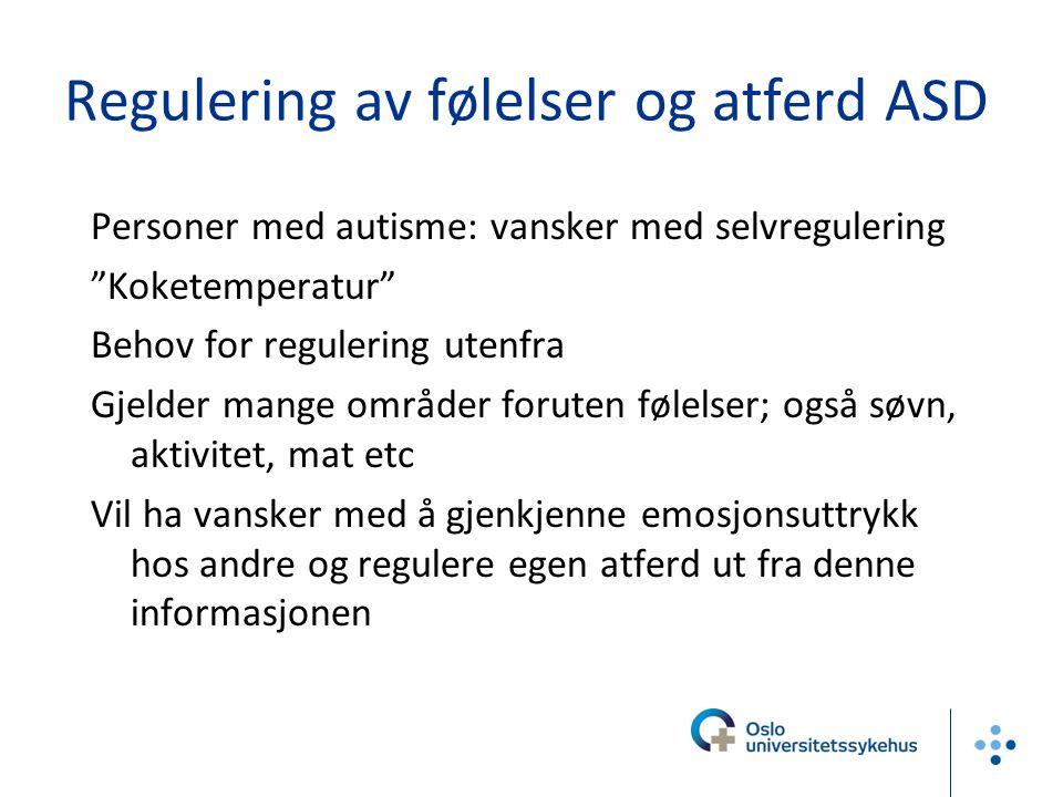 Regulering av følelser og atferd ASD