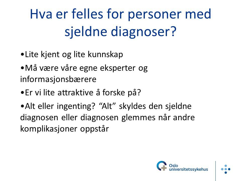 Hva er felles for personer med sjeldne diagnoser