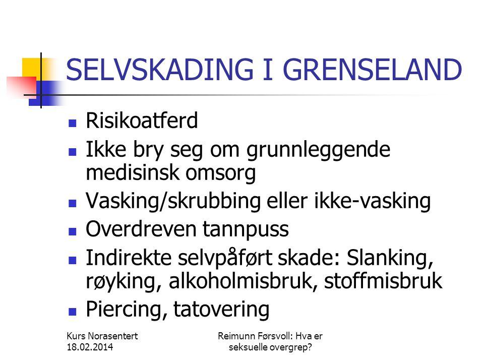 SELVSKADING I GRENSELAND