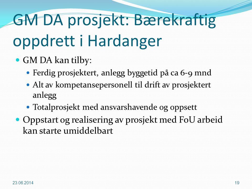GM DA prosjekt: Bærekraftig oppdrett i Hardanger