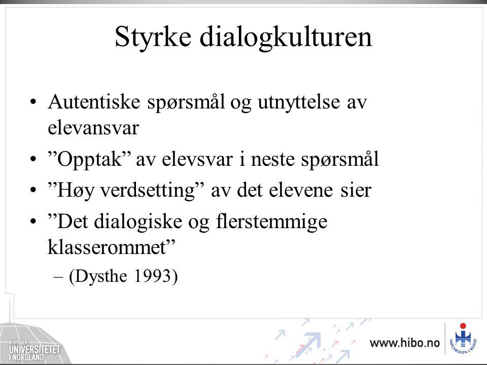 Styrke dialogkulturen